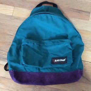 Vintage purple and green Eastpak backpack